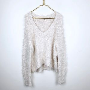 Anthropologie Knitted & Knotted Eyelash Sweater